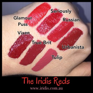 red lips swatched - for the article